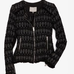 IRO black and metallic Uma jacket RRP $1028